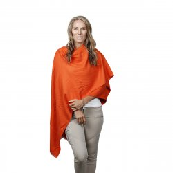 vacker orange cape orange poncho klassisk poncho