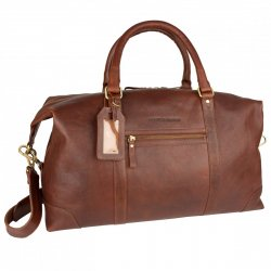 skinnbag i cognac gedigen weekend bag klassisk modell i skinn