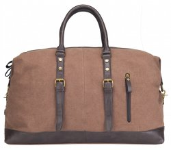 weekendbag canvas kaffe brun bag unisex sportig elegant weekendbag